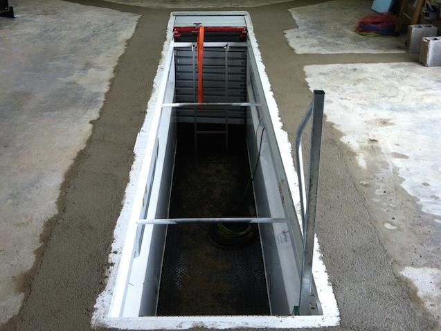 fosse de garage pour équipement véhicule handicapé et auto école