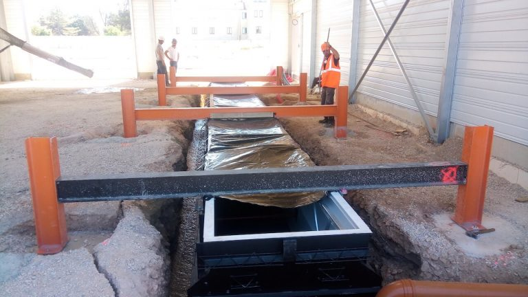 installation fosse de réparation véhicules armée