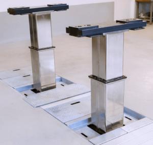 pont élévateur colonnes carrées ultra résistantes 15 Tonnes