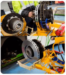 dépose et repose disque de frein sur poids lourds