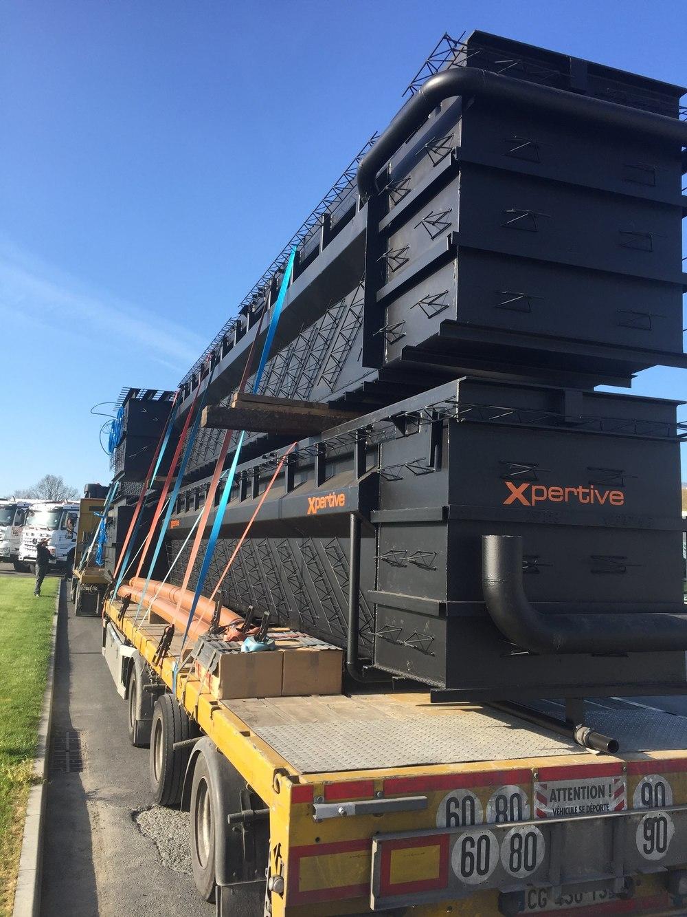fosse d'atelier pour maintenance poids lourds