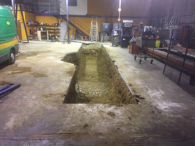 terrassement fosse de garage pour maintenance véhicules lourds