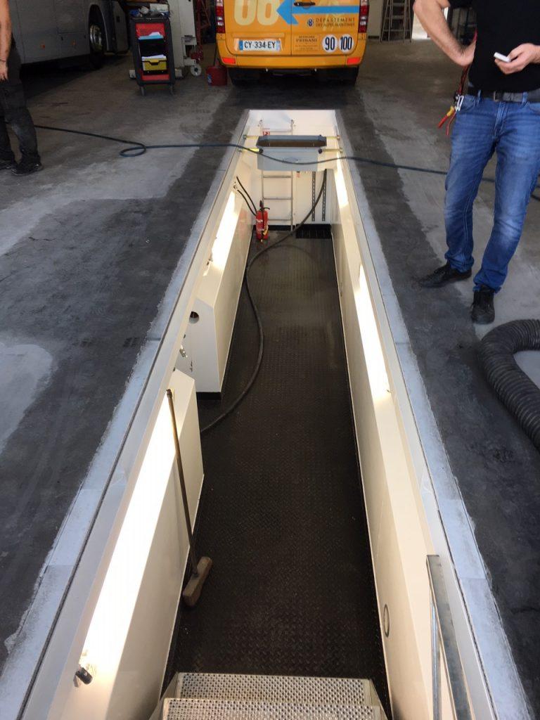 fosse de maintenance poids lourds
