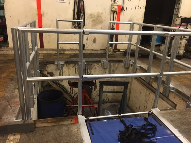 système pour protéger fosse contre chute de hauteur