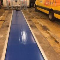rideau de fosse pour sécuriser atelier autobus