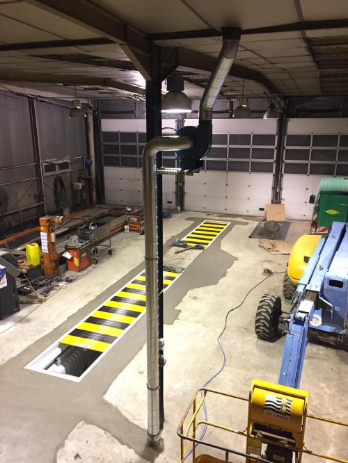 ventilateur pour fosse de garage